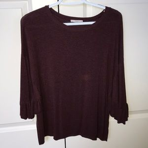 Tops - maroon sweater